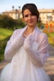 свадебный палантин с перчатками