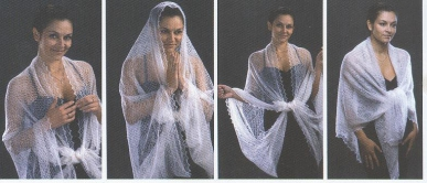 как носить пуховый платок