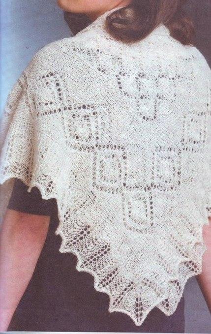 схемы вязания пуховых платков