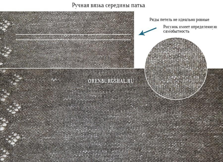 Ручная вязка середины платка