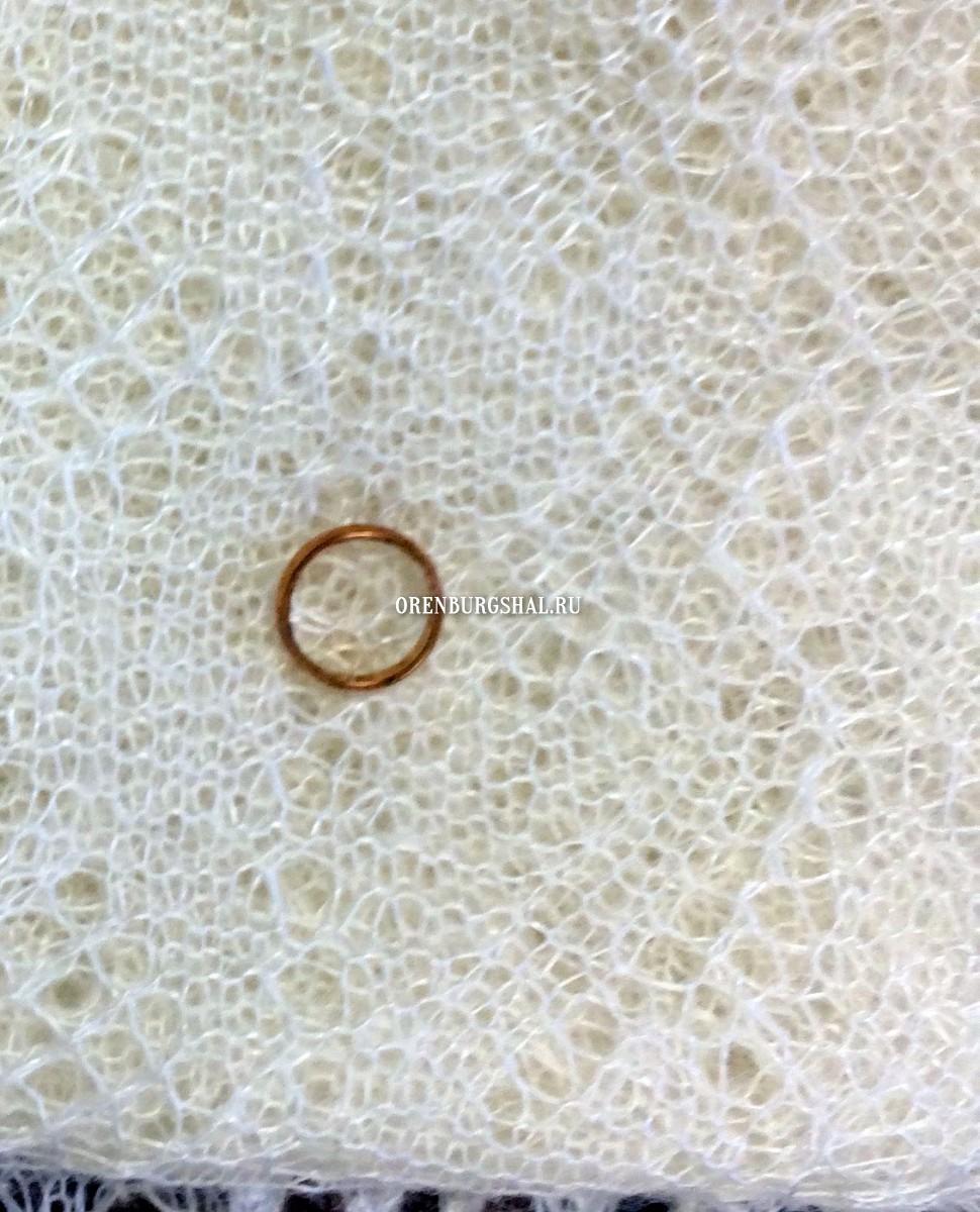 оренбургский пуховый платок обручальное кольцо