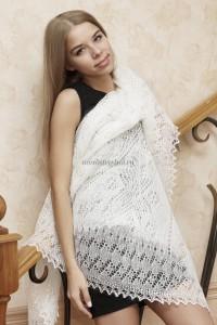 белый пуховый платок