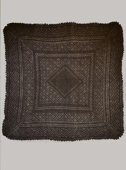 Серый классический платок