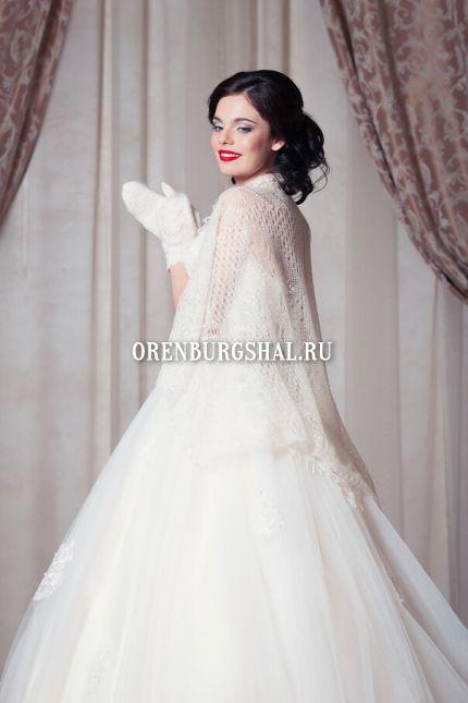 оренбургский пуховый платок на свадьбе