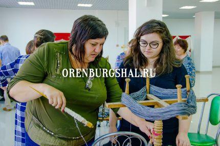 изготовление оренбургского платка