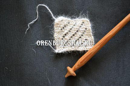 вязание платка оренбург