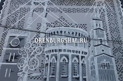 граффити оренбургского пухового платка