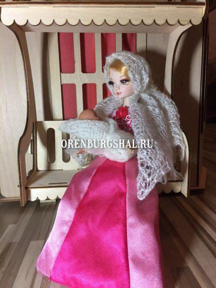 кукла в пуховом платке