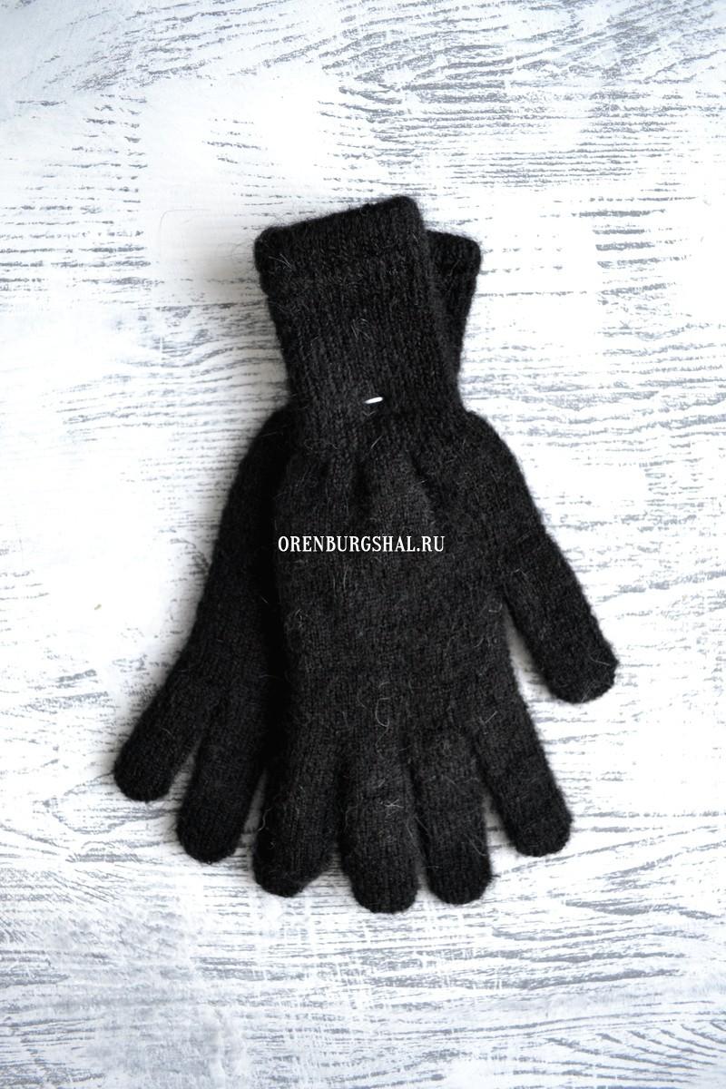 Перчатки пуховые черные