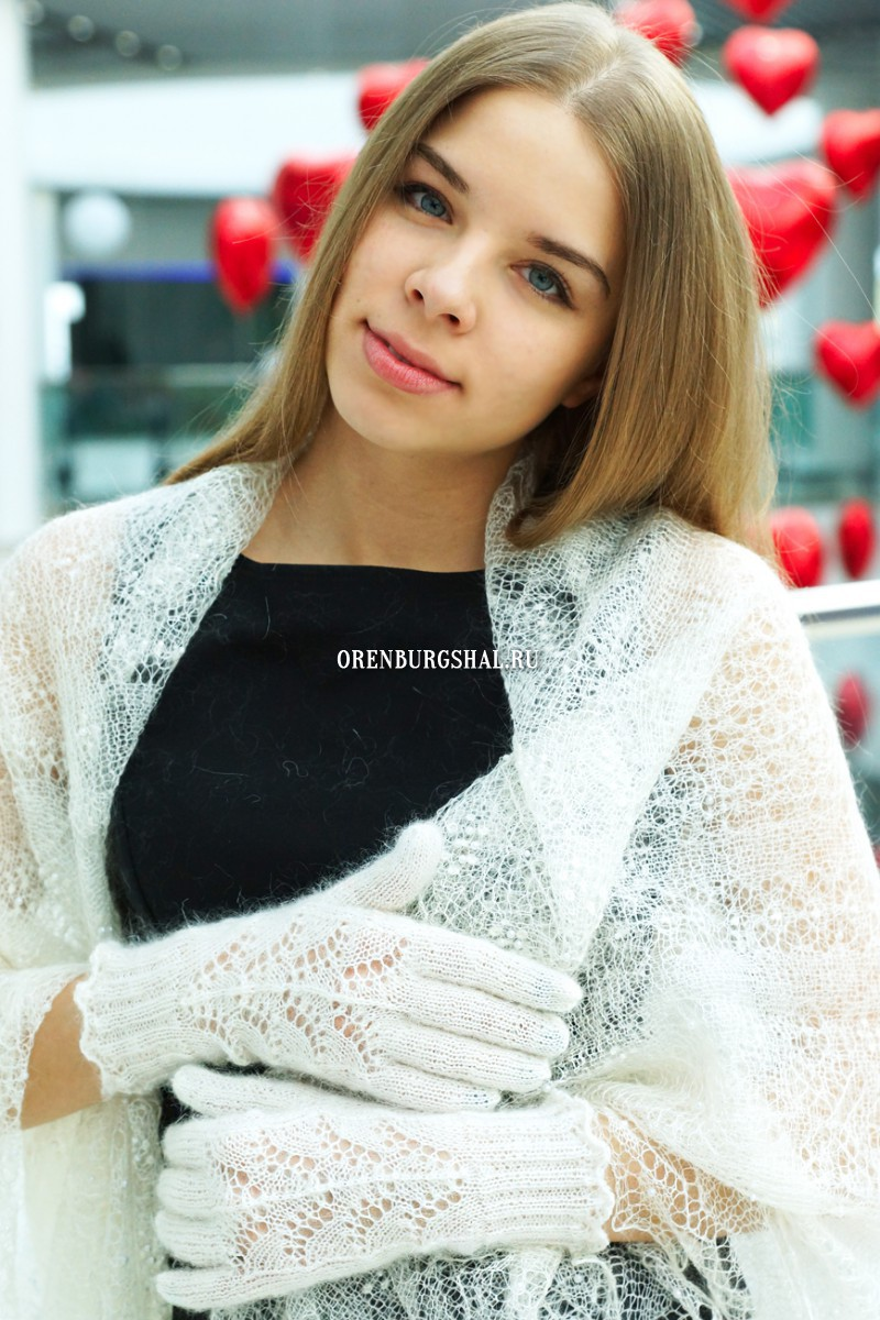 Женские пуховые перчатки