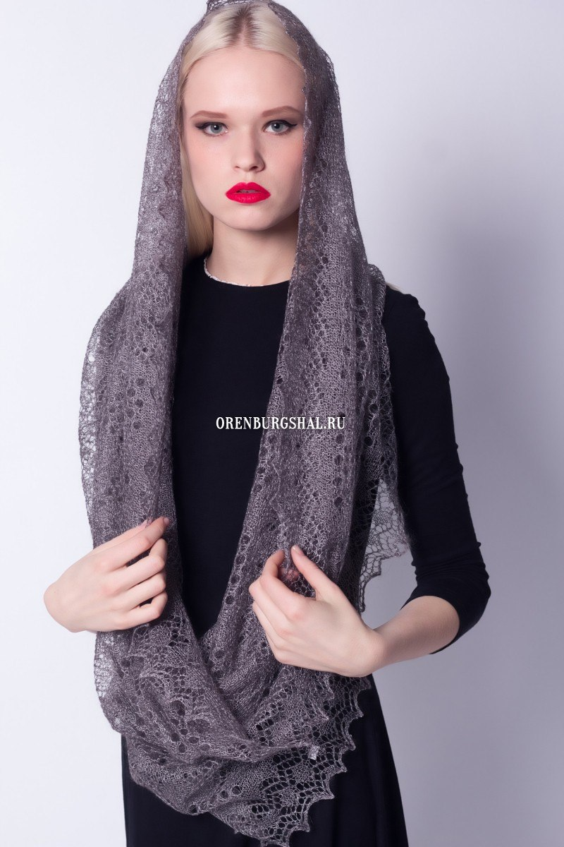 Gray scarf-snack 'Ash'