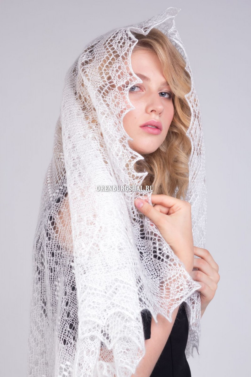 "Lacy shawl ""Mrs blizzard"""