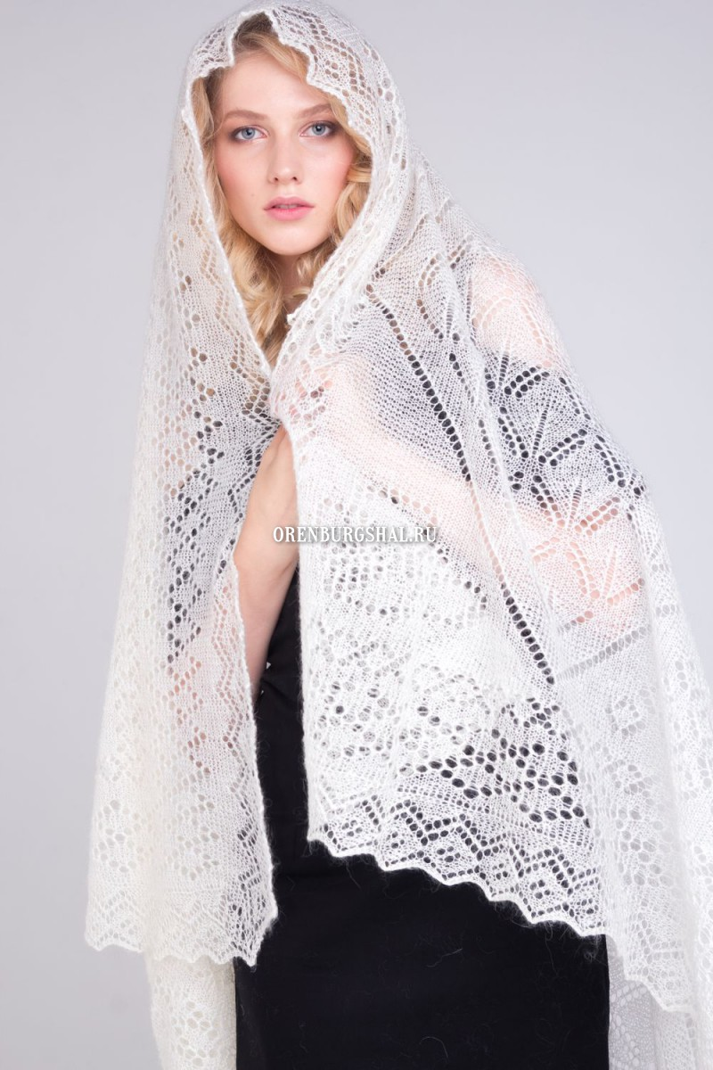 "Lacy shawl ""Simphony of summer"""