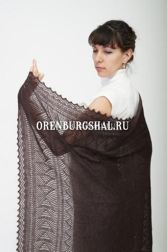 Коричневый поховый платок