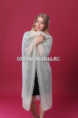 Платки оренбургские шали