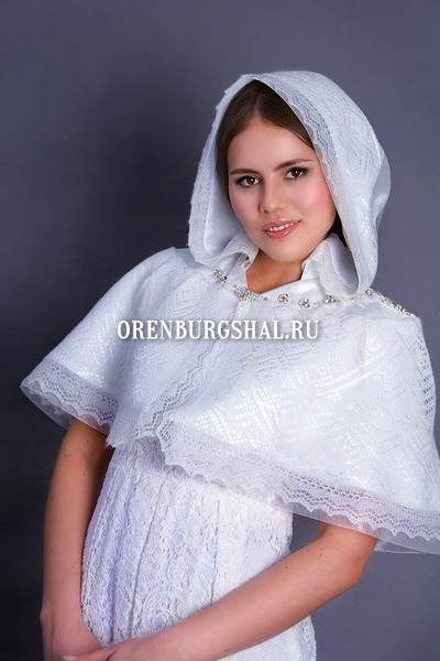 венчальная свадебная пелерина