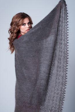 Gray shawl 'Great happines'