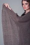 Серый ажурный платок «Морозное кружево»