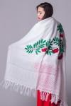 Пуховый платок «Гроздья рябины на снегу»