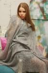 Пуховый платок светло-серый