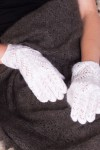 Lacy gray gloves