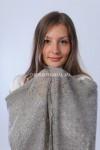 Серый платок с зубцами 130х130